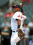 4 September 2009: Cleveland Indians' second baseman Luis Valbuena warms up prior to a game against the Minnesota Twins at Progressive Field in Cleveland, Ohio. The Indians defeated the Twins 5-2 to take the first game of their three-game weekend series. Mandatory Credit: Ed Wolfstein Photo