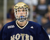 Sam Calabrese (Notre Dame - 8) - The University of Notre Dame Fighting Irish defeated the Merrimack College Warriors 4-3 in overtime in their NCAA Northeast Regional Semi-Final on Saturday, March 26, 2011, at Verizon Wireless Arena in Manchester, New Hampshire.