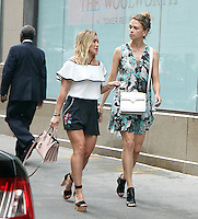 NEW YORK, NY-July 01: Hilary Duff, Sutton Foster shooting on location for the new season of the Younger  in New York. NY July 01, 2016. Credit:RW/MediaPunch