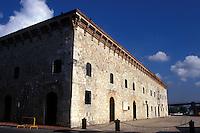 The Museo de Las Casa Reales in old Santo Domingo, Dominican Republic. Santo Domingo's Zona Colonial was declared a UNESCO World heritage Site in 1990.