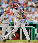 10 July 2008: Arizona Diamondbacks' center fielder Chris Young in action during a game against the Washington Nationals at Nationals Park in Washington, DC. The Diamondbacks defeated the Nationals 7-5 in 11 innings to take the rubber match of their 3-game series in the Nation's Capitol...Mandatory Photo Credit: Ed Wolfstein Photo