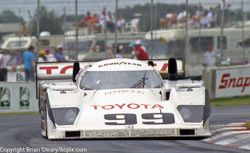 The #99 Dan Gurney Eagle HF90 Toyota of  Juan Fangio II races to a 6th place finish in the Nissan World Challenge of Tampa,  Florida State Fairgrounds, September 1990. (Photo by Brian Cleary/www.bcpix.com)