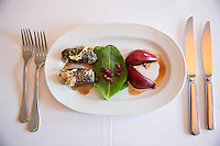 Turkish Ottoman cuisine food liver kofte meal at Restaurant Asitane by the Chora Kariye, Edirnekapi, Istanbul, Turkey