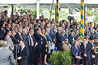 L'AQUILA (AQ) 21/06/2012 - 238° ANNIVERSARIO DELLA SCUOLA GUARDIA DI FINAZA A L'AQUILA, PRESENTI ALLA FESTA IL PRESIDENTE DELLO STATO GIORGIO NAPOLITANO E IL PREMIER MARIO MONTI. NELLA FOTO ILPARTERE DELLE AUTORITA' FOTO DI LORETO ADAMO