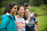 Sruthi Sakamuri, left, Katherine Wang, Tracey DaFonte. Outdoor team building activities. Wilderness medicine.