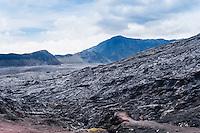 Java, East Java, Mount Bromo. Lava flow.