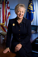 Slug: Patricia Bradsaw.Date: 11-27-2007.Photographer: Mark Finkenstaedt .Location: The Pentagon Building.Caption: Patricia S. Bradshaw has served as the Deputy Under Secretary of Defense for Civilian Personnel Policy since January 2006.  In this role, she is responsible for formulating plans, policies, and programs to manage the Department of Defense (DoD) civilian workforce effectively, efficiently, and humanely.  She supports the Military Departments and Defense Agencies through policy leadership and with personnel services provided by her staff of senior advisors and the Civilian Personnel Management Service. ..© 2010 Mark Finkenstaedt. All Rights Reserved. No transfers or loans. Only for the use of --- ***---- website, public relations, and media handouts..  No Sales, resales, ransfers. No advertising or paid placement use.  For additional use such as marketing and advertising call the photographer..2022582613.mark@mfpix.com