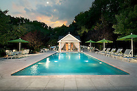Outdoor Pool with Lutron Lighting