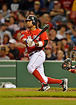 8 June 2012: Boston Red Sox outfielder Darnell McDonald in action against the Washington Nationals at Fenway Park in Boston, MA. The Nationals defeated the Red Sox 7-4 in the opening game of their 3-game series. Mandatory Credit: Ed Wolfstein Photo