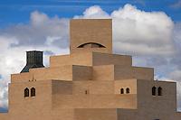 Doha, Qatar.  Museum of Islamic Art, designed by architect I.M. Pei.