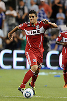 Orr Barouch Chicago Fire...Sporting KC were held to a scoreless tie with Chicago Fire in the inauguarl game at LIVESTRONG Sporting Park, Kansas City, Kansas.
