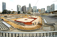The Charlotte Knights new home at  BB&amp;T Ballpark  will have a seating capacity of 10,000 seats and a natural grass field located in Center City Charlotte, North Carolina. Opening day at the new ballpark will be April, 11, 2014.<br />