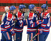 Scott Wilson (UML - 23), Riley Wetmore (UML - 16), Joseph Pendenza (UML - 14), Chad Ruhwedel (UML - 3) - The visiting University of Massachusetts Lowell River Hawks defeated the Harvard University Crimson 5-0 on Monday, December 10, 2012, at Bright Hockey Center in Cambridge, Massachusetts.