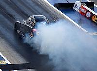Sep 17, 2016; Concord, NC, USA; NHRA funny car driver Alexis DeJoria during qualifying for the Carolina Nationals at zMax Dragway. Mandatory Credit: Mark J. Rebilas-USA TODAY Sports