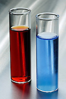 COMPLEX IONS FORMED WITH THIOCYANATE<br /> (Variations Available)<br /> Characteristic Colors of Cobalt II &amp; Iron III<br /> Adding a thiocyanate  to Cobalt Chloride (aq.) results in a blue color, due to formation of a complex cobalt thiocyanate ion (Co(SCN)2). Adding KSCN to an Iron III solution results in the blood red complex ion Fe(SCN)2+. (Often used for stage blood)