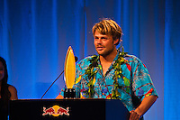 Haleiwa Hawaii, (Monday December 6, 2010) .Monday.  Dane Reynolds (USA) voted #2.     40th annual SURFER Poll Awards were held tonight at Turtle Bay Resort on Oahu's North Shore..Sal Masekela (USA)  returned to serve as the Master of Ceremonies for the event with charismatic Hawaiian surf star Fred Patacchia as co-host .This year's SURFER Poll Awards were held in honor of recently lost legend, three-time World Champion Andy Irons. While acknowledging all of the surfers lost this year, the event  put a heavy focus on Andy and the legacy he leaves behind in and out of the water. Another focal point of this year's show was  Kelly Slater's 10th world title win. Touted as the world's most dominant athlete, Kelly's accomplishments have catapulted the sport of surfing and garnered the world's attention. Kelly was award the male Surfer of the Year award with Stephanie Gilmore (AUS) taking out the Female Surfer of the Year..Photo: joliphotos.com