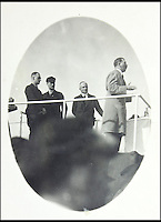 BNPS.co.uk (01202 558833)<br /> Pic: AlexanderHistoricalAuctions/BNPS<br /> <br /> Hitler giving a speech.<br /> <br /> Chilling early photographs of the Nazi party which show Adolf Hitler basking in the adulation of his fanatical supporters and Jews being persecuted have been unearthed.<br /> <br /> The disturbing images from an SS officer's photo album date from 1931 to 1935 so they cover the period of the Nazis' rise to power and the first two years of the dictatorship.<br /> <br /> The album was recovered by US Army officer Philips Parks Ramsey after the war but his family have now decided to put it up for auction and it is tipped to sell for &pound;1,500 ($2,000).