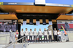 Team Dimension Data at the Team Presentation for the upcoming 115th edition of the Paris-Roubaix 2017 race held in Compiegne, France. 8th April 2017.<br /> Picture: Eoin Clarke | Cyclefile<br /> <br /> <br /> All photos usage must carry mandatory copyright credit (&copy; Cyclefile | Eoin Clarke)