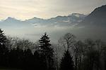 Lake and mountains Stätter See. Beckenried. Luzern area, Switzerland.