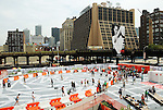 NEW YORK, NY - JULY 28:  A general view of High Line Rink at the grand opening of the High Line Rink at The Lot at The High Line on July 28, 2011 in New York City.  (Photo by Desiree Navarro/WireImage)