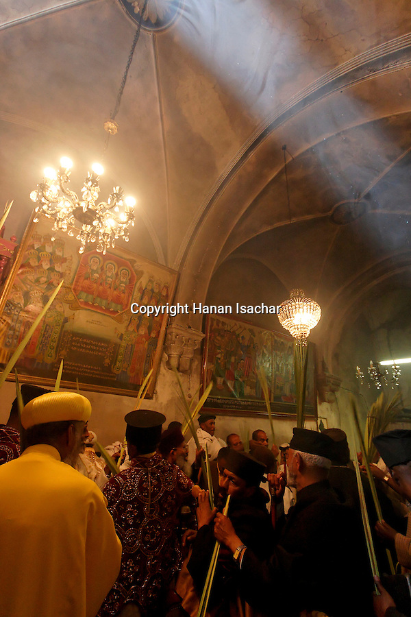 Israel, Jerusalem Old City, at the Ethiopian Orthodox Chapel of Deir Sultan at the Church of the Holy Sepulchre on Palm Sunday, Easter, 2005<br />