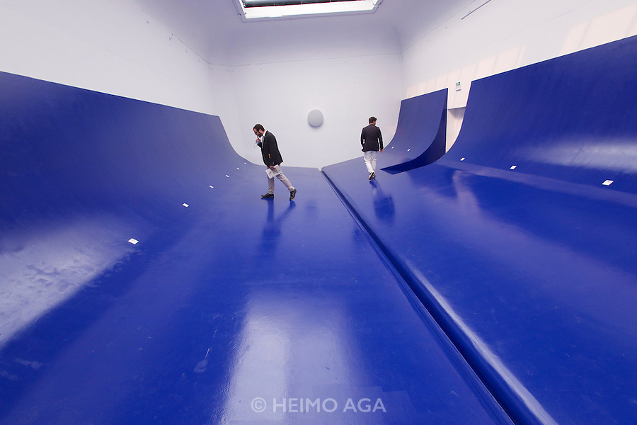 Venice, Italy - 15th Architecture Biennale 2016, &quot;Reporting from the Front&quot;.<br /> Giardini.<br /> Serbia Pavilion. HEROIC: Free Shipping.