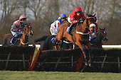 Robougg ridden by RT Dunne leads during the Sports-Bookmakers.co.uk Handicap Hurdle - Horse Racing at Huntingdon Racecourse, Cambridgeshire - 23/02/12- MANDATORY CREDIT: Gavin Ellis/TGSPHOTO - Self billing applies where appropriate - 0845 094 6026 - contact@tgsphoto.co.uk - NO UNPAID USE.