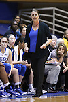 30 October 2014: Duke head coach Joanne P. McCallie. The Duke University Blue Devils hosted the Limestone College Saints at Cameron Indoor Stadium in Durham, North Carolina in an NCAA Women's Basketball exhibition game. Duke won the game 100-33.