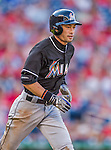 19 September 2015: Miami Marlins outfielder Ichiro Suzuki returns to the dugout from the outfield during a game against the Washington Nationals at Nationals Park in Washington, DC. The Marlins fell to the Nationals 5-2 in the third game of their 4-game series. Mandatory Credit: Ed Wolfstein Photo *** RAW (NEF) Image File Available ***