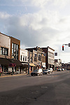 Shops and sights around the main square in Noblesville, Indiana, IN, USA,
