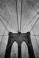 Brooklyn Bridge - New York City - B&W
