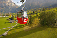 Mannlichen cable car looking towards the North Face Of The Eiger and The Jungfrau - Grindelwald Swiss Alps