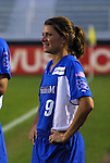18 June 2003: Mia Hamm of the Washington Freedom. The WUSA All-Star Skills Competition was held at SAS Stadium in Cary, NC.