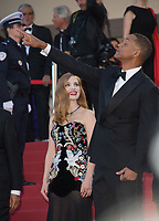 Jessica Chastain &amp; Will Smith at the premiere for &quot;Ismael's Ghosts&quot; at the opening ceremony of the 70th Festival de Cannes, Cannes, France. 17 May 2017<br /> Picture: Paul Smith/Featureflash/SilverHub 0208 004 5359 sales@silverhubmedia.com