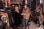 Manar Tafesh, 30, a Palestinian fashion designer buys sewing kit as she works on knitting wedding dresses at her house with her husband to help him after he lost his work as tailor in the Palestinian territory occupied, in Gaza city on Feb. 14, 2017. The Gaza Strip is suffering from unemployment especially after Israel stopped the permits to Palestinian laborers from the Gaza Strip with the outbreak of the second, Al-Aqsa intifada on Sept. 27, 2000 and Israeli blockade on the Gaza Strip, Which made the population in the Gaza Strip resort to finding an alternative plan to improve living conditions. Photo by Reham Al Gazaly