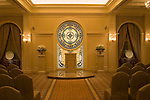 A wedding chapel in Las Vegas Nevada, Nevada, NV, Las Vegas, city, wedding chapel, Tuscano, Caesars Palace Hotel and Casino, altar, stained glass, Photo nv275-18257.  .Copyright: Lee Foster, www.fostertravel.com, 510-549-2202,lee@fostertravel.com