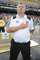 DC United Assistant Coach and Technical Director Chad Ashton.  The Columbus Crew defeated DC United 1-0 at RFK Stadium, Saturday September 4, 2010.