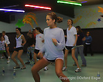 Zumba class at the Skate Place in Oxford, Miss. on Wednesday, February 18, 2010.
