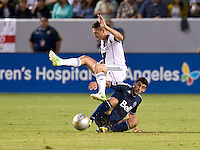 CARSON, CA - September 1, 2012:  LA Galaxy forward Robbie Keane (7) during the LA Galaxy vs the Vancouver Whitecaps FC at the Home Depot Center in Carson, California. Final score LA Galaxy 1, Vancouver Whitecaps FC 0.
