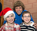 St Johnstone players visit Fairview School in Perth.....19.12.13<br /> Murray Davidson pictured with Josh Duff (left) and Christopher Pirie<br /> Picture by Graeme Hart.<br /> Copyright Perthshire Picture Agency<br /> Tel: 01738 623350  Mobile: 07990 594431