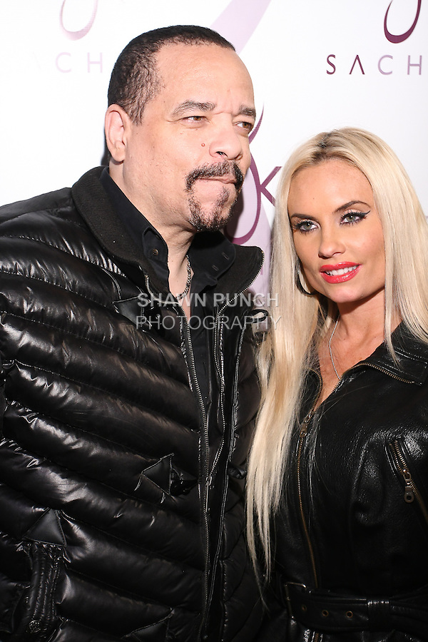 Ice-T and wife Coco arrive at the Sachika Twins - To-Tam Ton-Nu, and To-Nya Ton-Nu - Birthday party, at Juliet Supper Club NYC, December 13 2010.