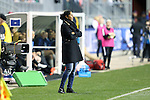 CHESTER, PA - MARCH 01: Germany head coach Steffi Jones (GER). The United States Women's National Team played the Germany Women's National Team as part of the She Believes Cup on March 1, 2017, at Talen Engery Stadium in Chester, PA. The United States won the game 1-0.
