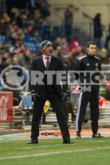 Rayo Vallecano&acute;s Paco Jemez during 2014-15 La Liga match between Atletico de Madrid and Rayo Vallecano at Vicente Calderon stadium in Madrid, Spain. January 24, 2015. (ALTERPHOTOS/Luis Fernandez) /NortePhoto<br /> NortePhoto.com