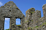 Europe, Ireland, Northern Ireland, Bushmills. Dunluce Castle windows and walls.