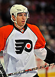 18 December 2008: Philadelphia Flyers' right wing forward Andreas Nodl from Austria warms up prior to facing the Montreal Canadiens at the Bell Centre in Montreal, Quebec, Canada. The Canadiens look to avoid a four-game slide, while the Flyers seek their sixth win in a row. The Canadiens defeated the Flyers 5-2. ***** Editorial Sales Only ***** Mandatory Photo Credit: Ed Wolfstein Photo