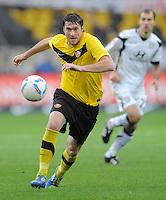 Fussball, 2. Bundesliga, Saison 2011/12, SG Dynamo Dresden - FSV Frankfurt, Sonntag (05.12.11), gluecksgas Stadion, Dresden. Dresdens Pavel Fort am Ball.