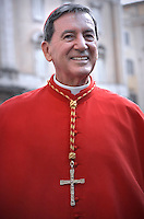 Colombia's cardinal Ruben Salazar Gomez,.Pope Francis,during a consistory for the creation of new Cardinals at St. Peter's Basilica in Vatican.February 14, 2015