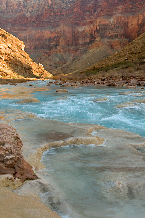 The Little Colorado River near confluence with Colorado River in Grand Canyon.