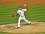 18 May 2012: Washington Nationals pitcher Sean Burnett in action against the Baltimore Orioles at Nationals Park in Washington, DC. The Orioles defeated the Nationals 2-1 in the first game of their 3-game series. Mandatory Credit: Ed Wolfstein Photo