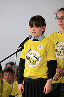 NO FEE PICTURES.8/3/12 Emily Blainey, St Fintan's NS, Sutton, taking part in the Dublin County final, part of the overall Eason 2012 Spelling Bee, held at St Olaf's NS, Dundrum. .For further details visit www.easons.com/spellingbee and stay tuned to RTE 2fm. Picture:Arthur Carron/Collins